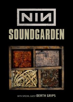 Nine Inch Nails and Soundgarden are teaming up for a 2014 North American summer tour. Get all the dates here. Rock Posters, Band Posters, Concert Posters, Music Posters, Red Rock Amphitheatre, Trent Reznor, Nine Inch Nails, Rock News, American Tours