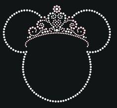 6.5 inch Minnie Mouse Princess Tiara rhinestone by MyFairysCloset
