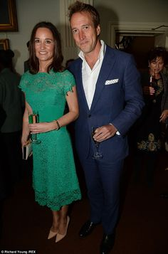 Catching up over bubbles: The 30-year-old also caught up with Ben Fogle at the bash held a...