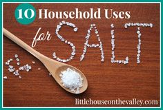 10 Household Uses For Salt - Little House on the Valley