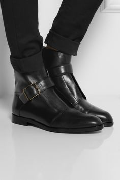 Alexander Wang | Monk-strap leather ankle boots