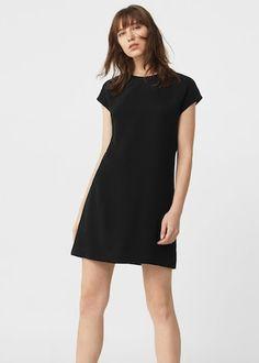 Soepelvallende rechte jurk   MANGO
