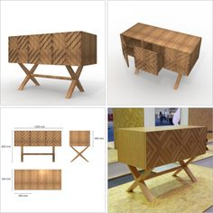 furniture design portfolio by Rita Cabrita, via Behance