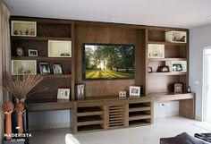 Muebles para tv en madera de cedro y chapa de zebrano for Amoblar departamentos pequenos