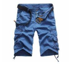 e6c5ac14add Pánské kapsáčové kraťasy modré – pánské kraťasy + POŠTOVNÉ ZDARMA Na tento  produkt se vztahuje nejen