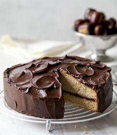 chestnut cake with chocolate cream