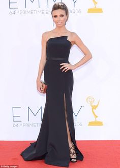 Giuliana Rancic in a black Romona Keveza number