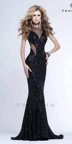 siyah uzun balik abiye modelleri 2014 2015 - StyleKadın