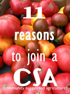 11 Reasons to Join a Community Supported Agriculture (CSA) share.