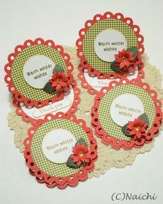 クリスマスカード by:Naichi #カード Christmas Images, Christmas Cards, Craftwork Cards, Craft Work, Paper Crafts, Scrapbook, Crafty, Frame, Projects