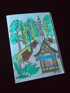 Helsinki Dragonfly  adults , aikuisten , anne laios , book , color your helsinki , coloring , esplanade , esplanadi , Helsinki , illustration , inspiration , kuvitus , mervi männikkö , park , puisto , värityskirja
