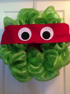 Teenage Mutant Ninja Turtle Door Wreath  by SouthernSassByLC, $42.00