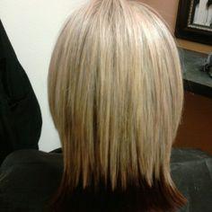 Heavy blonde partial Hilight over medium brown
