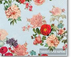 Paper Napkins for Decoupage and Party by tamaraspapernapkins Shabby Chic Napkins, Christmas Paper Napkins, Bamboo Leaves, Paper Napkins For Decoupage, Bird Boxes, Retro Vintage, Etsy Seller, Colours, Handmade Gifts