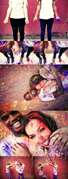 awesome photo shoot. messy but awesome! Want to do this with one of my couples!!!!!
