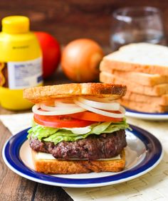 Connecticut Original Burger Sandwich made with 5 cuts of beef and buttery toast!  Yes!