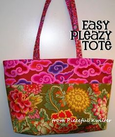 Easy Pleazy Tote Tutorial (made this with a denim bottom for a beach tote)
