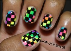 Trendy nail art photographs supplied by members of the NAILS Magazine Nail Art Gallery. Popular Nail Designs, Popular Nail Art, Nail Art Designs, Checkered Nails, Chloe Nails, Exotic Nails, Trendy Nail Art, Rainbow Nails, Fabulous Nails