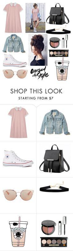 """""""Obsessed with Style"""" by lustforlife31 on Polyvore featuring Hollister Co., Converse, Christian Dior, Gerber and Bobbi Brown Cosmetics"""