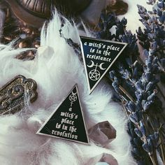 A Witch's Place is in the Resistance/ Revolution Pin by Nyxturna