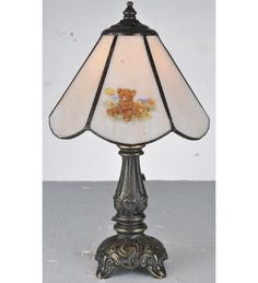 "Meyda Tiffany 107809 11.5""H Teddy Bear Mini Lamp"