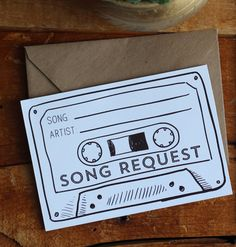 Cassette Tape Song Request - Printable Digital File from Creativedestiny.ca