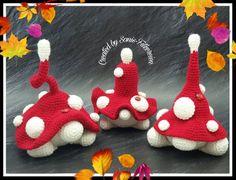 Crochet Mushroom, Leprechaun, Elf, Craft Supplies, Stuffed Mushrooms, Crochet Patterns, Etsy Shop, Christmas Ornaments, Knitting
