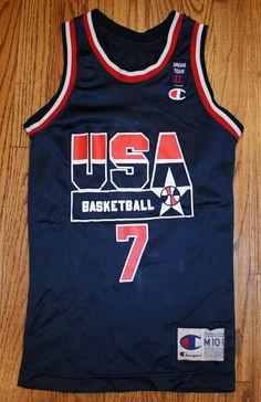Vintage SHAWN KEMP Dream Team II USA BASKETBALL OLYMPIC CHAMPION JERSEY-Youth Medium