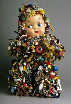 Lisa Kokin, Baby Mixed media, 18 x 12 x 7 inches, 1995 It's official. Lisa Kokin is my latest obsession. Found Object Art, Found Art, Mixed Media Sculpture, Sculpture Art, Metal Sculptures, Abstract Sculpture, Bronze Sculpture, Toy Art, Broschen Bouquets