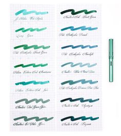 14 Inks To Match Your Blue-Green LAMY AL-Star Fountain Pen