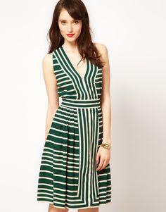 whistles border stripe dress