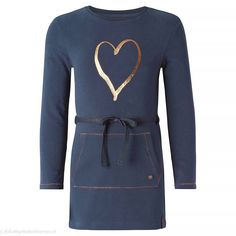 NOPPIES Jurk Norwell (donkerblauw) | Noppies Kinderkleding Dresses For Work, Dresses With Sleeves, Long Sleeve, Sweaters, Blue, Medium, Products, Fashion, Dress Work