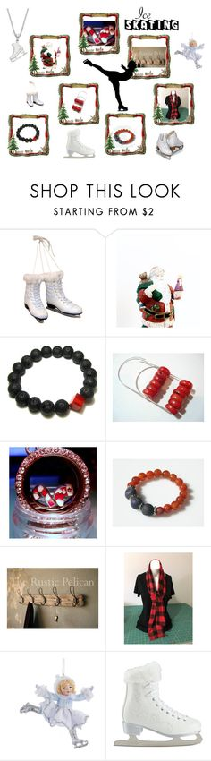 Winter Skating on a Pond by cozeequilts on Polyvore featuring Kurt Adler, Artistique and rustic