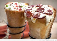 Pizza Ice Cream Cones