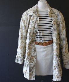 floral poplin sport jacket L by cheapopulance on Etsy, $35.00