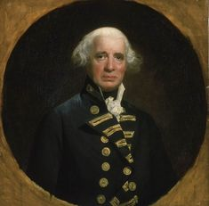 Admiral of the Fleet Richard Howe, 1st Earl Howe1726–1799 served in the American War of Independence and French Revolutionary Wars. He was a peace commissioner with the American rebels and commanded the British fleet during the Glorious First of June of 1794.