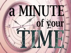 A Minute of Your Time - Clinton Kalamazoo Canal