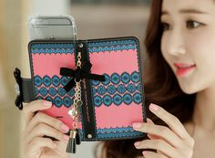 MISS LINGERIE HANDMADE WALLET CASE Made in Korea 2 Card Slot Easy and Fast World wild Shipping You can have now!