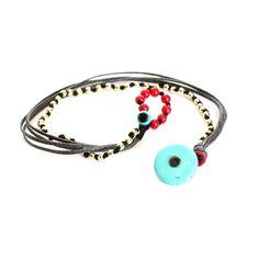 Βραχιόλι με 925 ασημένια επίχρυσα στοιχεία κηρώνημα και χαολίτη Fabric Bracelets, Craft Party, Anklets, Craft Gifts, Scarfs, Turquoise Bracelet, Macrame, Beaded Jewelry, Diy And Crafts