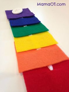 How to Use a Button Snake for Fine Motor Development -