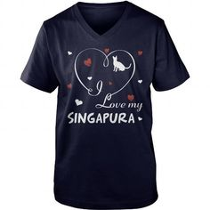 I LOVE MY SINGAPURA  V-NECKS TEE (==►Click To Shopping Now) #i #love #my #singapura # #v-necks #Cat #Catshirts #Cattshirts #shirts #tshirt #hoodie #sweatshirt #fashion #style