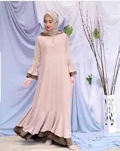68 Ideas For Sewing Patterns Dresses Women Fit Abaya Style, Hijab Style Dress, Modern Hijab Fashion, Abaya Fashion, Fashion Dresses, Hijab Evening Dress, Hijab Dress Party, Hijab Gown, Abaya Designs