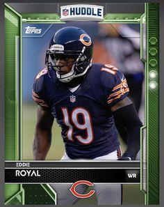 Eddie Royal Chicago Bears Green Parallel Card 2016 Topps HUDDLE