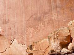 Petroglyphs near Fruita townsite close to UT 12