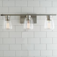 Sleek Contemporary Bath Light - 3 Light satin_nickel