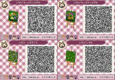Animal Crossing New Leaf QR code - flowers path