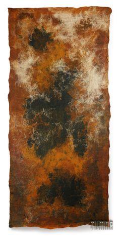 "Carpet ""Haze"" (big). Composition: 100% wool + calico. Handmade, sollid-rolled. Technique - nunofelting. Catalogue 2017 Tumar Art Group"