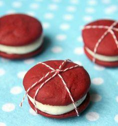 Valentines Day Red Velvet Whoopie Pies Recipe