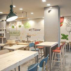 Milan restaurant Bio.it enjoys views of Stefano Boeri's award-winning Vertical Forest towers... http://www.we-heart.com/2015/02/04/bio-it-milan-restaurant/