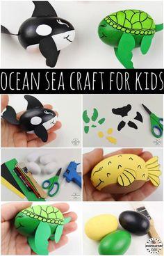 0b68e5f510fb77 DIY Kids Ocean Craft Idea Sea Turtle